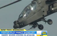 Prince Harry Flies Apache at Air Show