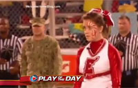 Soldier Pops-in for Pep Rally Surprise