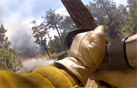 USAF Cadet Firefighters in Action