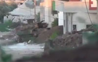 FSA Rebels Pound Assad Tank