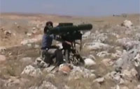 FSA Hits Tank with Red Arrow Missile