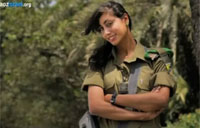 Arab-Israeli Female Combat Soldier