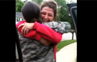 Female Troop Surprises Family!