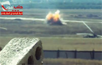 Missile Wipes Out Syrian Army Tanks