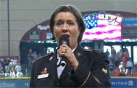 Servicewoman Nails 'God Bless America'