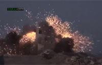 Assad Outpost Gets Demolished