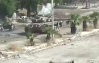 Rebels Blow Up Syrian Army Tank