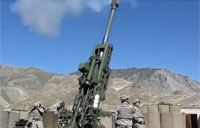 Artillery Fire on Taliban in Pech River
