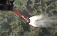Chinook Does Bambi Bucket Fire Drop