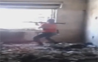 Rebel Armed with RPG-7 Gets Hit
