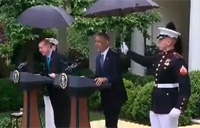 USMC Presidential Umbrella Duty