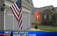 Marine Vet Fights Battle to Fly Flags