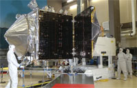 MAVEN Spacecraft Solar Array Test