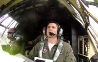 In the Cockpit of a C-130 Hercules