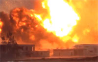 3 Ton Bomb Lights Up Syrian Air Base