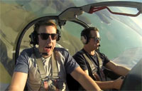 Surprise Aerobatics Flight for Friend