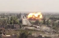 Syrian Air Force Bombs Rebel Base