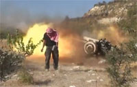 Heavy Artillery Attack On Syrian Army