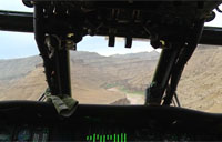 Blackhawk Helos Fly Through Canyons