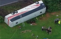 Bus Carrying Army Reservists Overturns