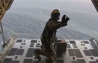 Army Drops Leaflets over Afghanistan
