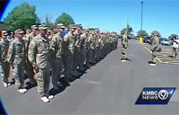 Soldiers Get a Warm Welcome Home