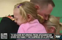 Emotional Reunion for Army Family