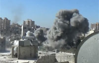 Assad Jet Strikes Braza District