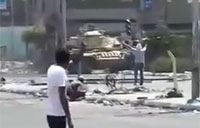 Egypt Protester Shot at Close Range