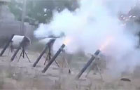 FSA Mortar Attack on Syrian Vehicle