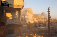 Large Artillery Strike on Syrian Rebels