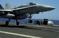 F-16 Nails Arrested Carrier Landing