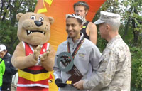 Top Military Finisher at Marine Marathon