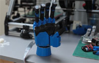 Prosthetic Hand Made with 3D Printer