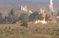 Assad Convoy Destroyed by Rebels