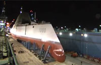 DDG 1000 Launches from Drydock
