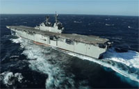 America (LHA 6) Sails the Gulf