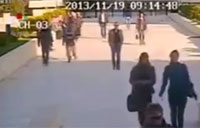 CCTV Records Mortar Attack in Aleppo