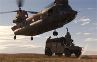 Chinook Sling-Load Training at Travis