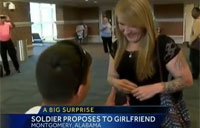 Soldier Proposes to His Army GF