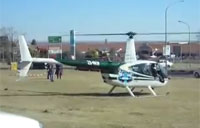 Helicopter Crashes into Moving Truck