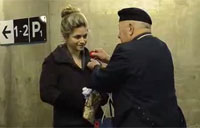War Vet Serenades Commuters