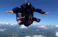 90-year-old Vet Skydives for Birthday