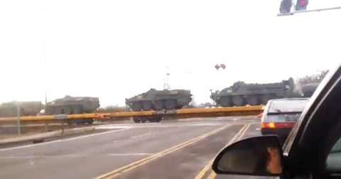 Train Transporting Military