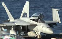 F/A-18E/Fs On USS George HW Bush