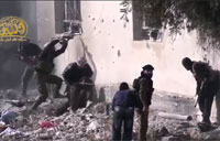 Syria Firefight with Enemy Visible