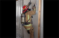 Firefighter Drywall Ladder Climb