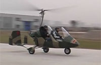 Chinese Gyrocopter Takes Flight!
