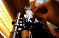 Guy Builds Sniper Rifle Out of Legos