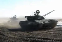 Russian T-72B1V Live Fire at Range